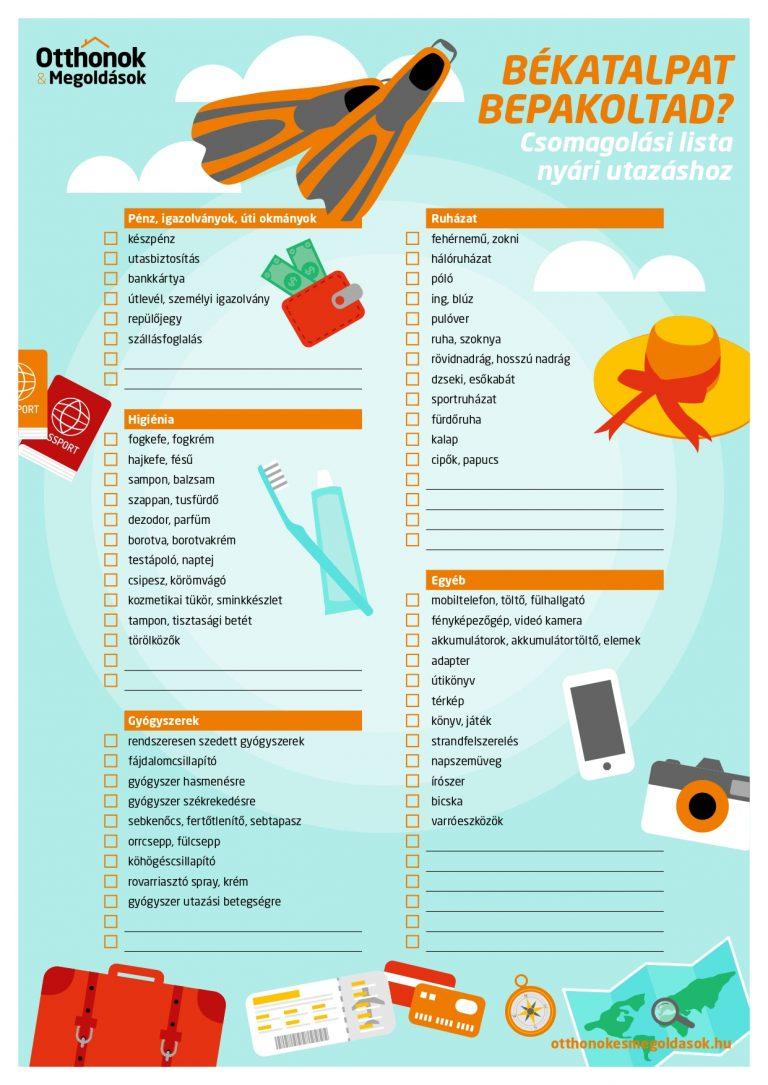 csomagolási lista