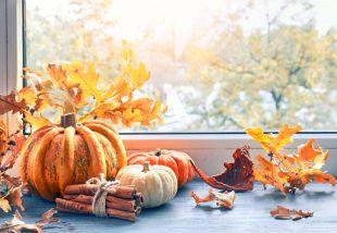 őszi ablakdekoráció