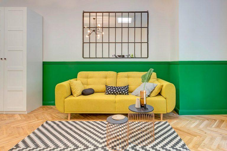 A lime fanyarságával – Egy zöld-sárgával karakterizált 40 m2-es élettér