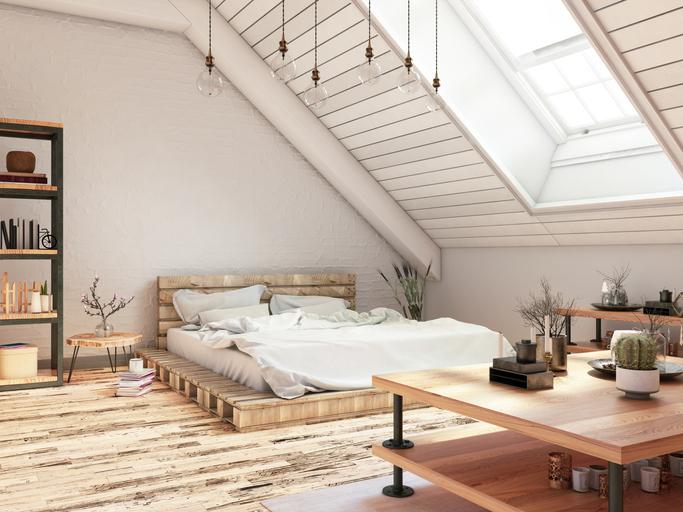 Lenyűgöző tetőtéri hálószobák – Te melyiket választanád?