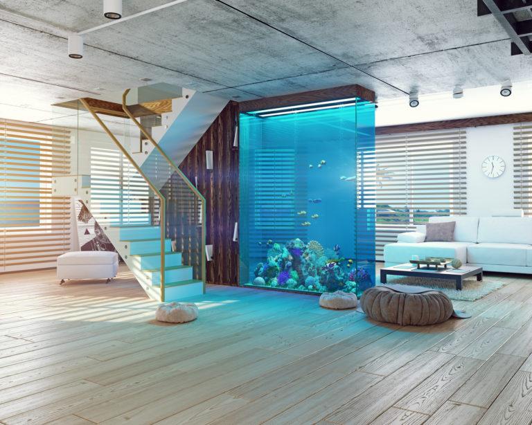 Minimalista lakás meleg tónusokkal – Ütős érv az üvegfal mellett